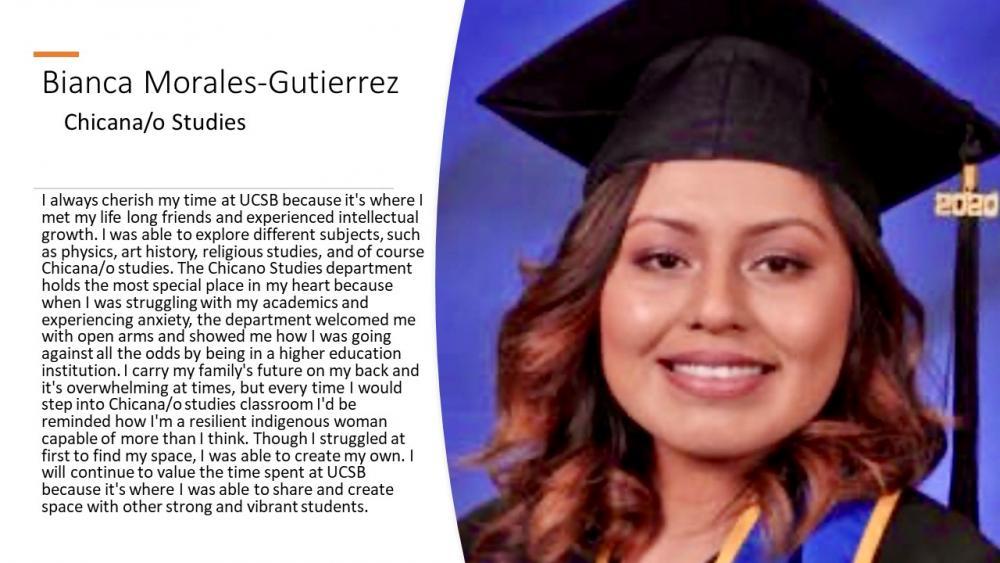 Bianca Morales-Gutierrez, Chicana/o Studies Major