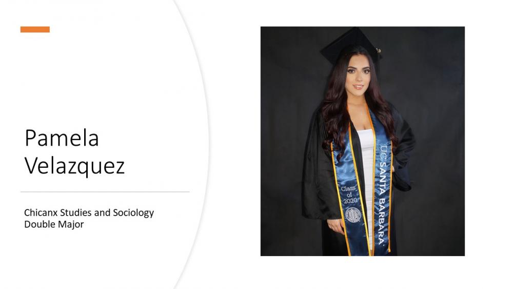 Pamela Velazquez; Chicanx Studies and Sociology Double Major