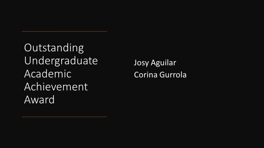 Outstanding Undergraduate Academic Achievement Award
