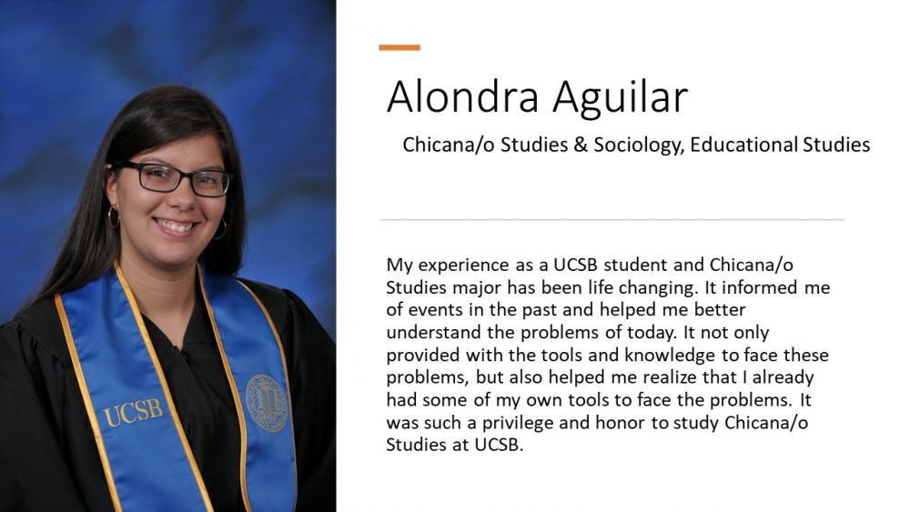 Alondra Aguilar, Chicana/o Studies & Sociology, Educational Studies