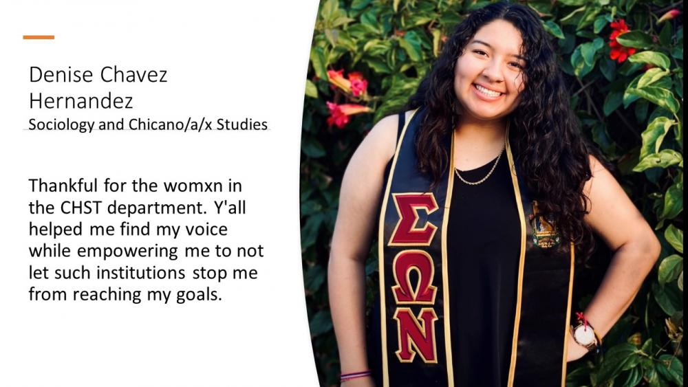 Denise Chavez, Sociology and Chicano/a/x Studies
